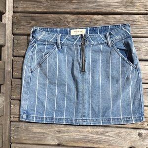Pacsun Los Angeles Denim Striped Mini Skirt
